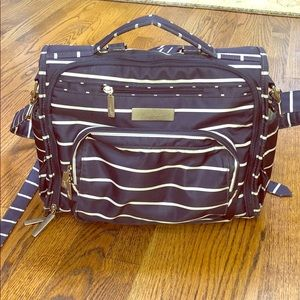 Jujube BFF Diaper Bag Backpack Blue/White Stripe